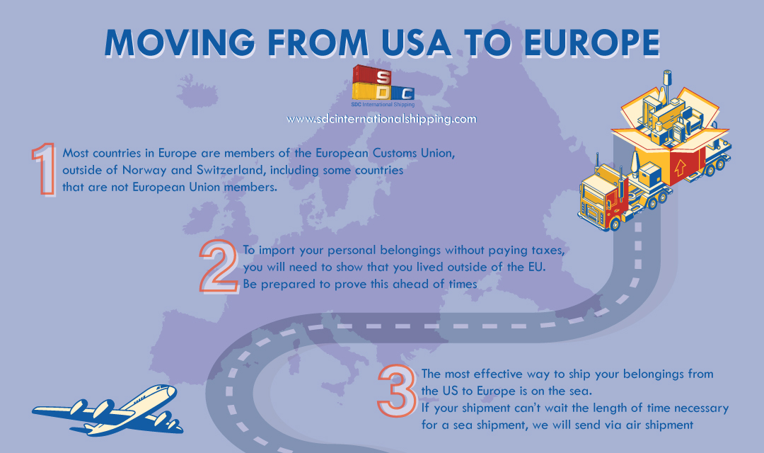 International Moving From Usa To Europe Sdc International Moving